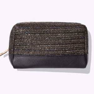 Tarte Black and Gold Fabric Bag